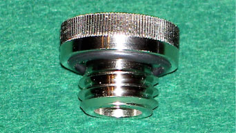 The Jenks' Oil Thumb Bolt Cap in bright Nickel plate